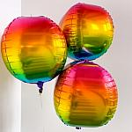 4D Rainbow Mylar Balloon 22""