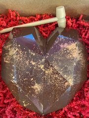 Milk Chocolate Heart with Rose Gold Shimmer Dust
