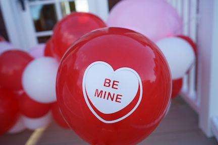 Conversation Hearts Balloon Garland
